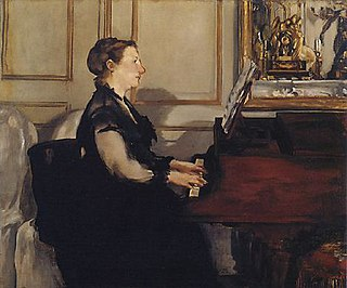 pianist, wife of Édouard Manet for whom she frequently modeled