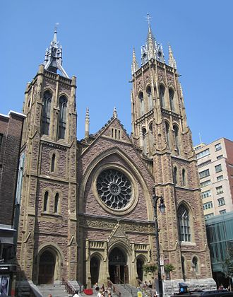 St. James United Church (Montreal) - St. James United Church on Saint Catherine Street in Downtown Montreal.