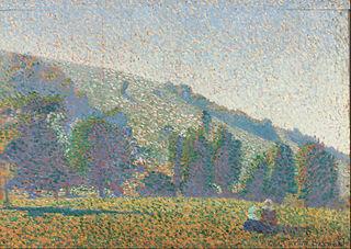 Two Breton women in a meadow