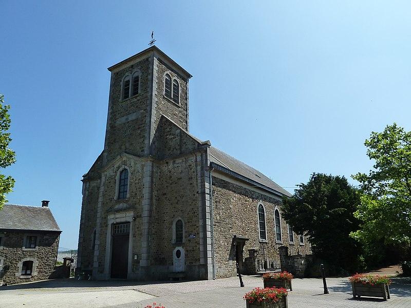 L'église Saint-Laurent, Érezée, Belgique