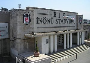 BJK İnönü Stadium - Main entrance to the stadium