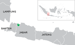 Peta lokasi Daerah Khusus Ibukota Jakarta