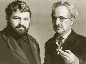 Yulian Semyonov -  Yulian Semyonov (left) and his father, Semyon Alexandrovich Lyandres  (date unknown)