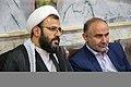 اهداء پرچم حرم علی بن موسی الرضا به هیئت ها یا موکب های مستقر در شهر مهران در ایام پیاده روی اربعین 12.jpg