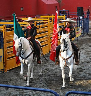 Charro - Charros at a horse show in Pachuca, Hidalgo