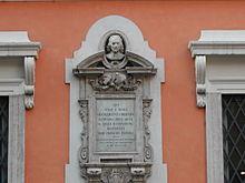 Roma: memoria di Bernini a via Capolecase, a fianco del palazzo dove visse (1898)