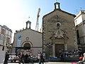 084 Plaça de Jaume I (Vilafranca del Penedès), capelles de Sant Pelegrí i de la M.D. dels Dolors.jpg