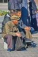 0903 - Nordkorea 2015 - Pjöngjang - Public Viewing am Bahnhofsplatz (22559114308).jpg