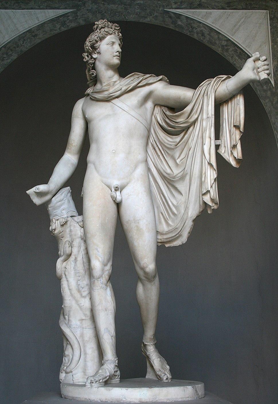 0 Apollon du Belv%C3%A9d%C3%A8re - Cortile Ottagono - Museo Pio-Clementino - Vatican (2).JPG