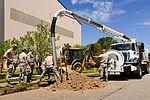 116th Civil Engineering Squadron repair drainage problem 130413-Z-XI378-009.jpg