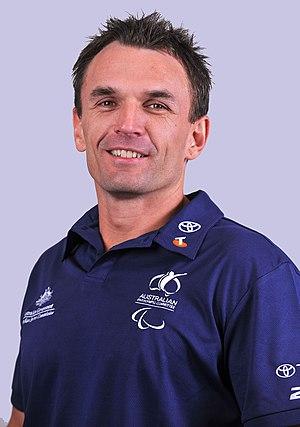 Tige Simmons - 2012 Australian Paralympic Team portrait of Simmons