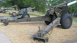 M114 155 mm howitzer - 155 mm Howitzer M-114 at the U.S. Army Field Artillery Museum, Ft. Sill, Oklahoma