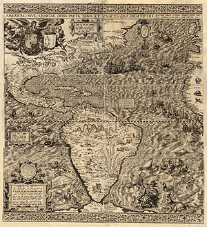 History of California - A 1562 map of the Americas, which applied the name California for the first time.