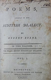 <i>Poems, Chiefly in the Scottish Dialect (Second Edinburgh Edition)</i> 1793 collection of poems and songs by Robert Burns