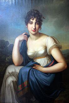 Amalie Beer. Gemälde von Carl Kretschmar, um 1803 (Quelle: Wikimedia)