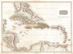 1818 Pinkerton Map of the West Indies, Antilles, and Caribbean Sea - Geographicus - WestIndies2-pinkerton-1818