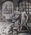 182 Life of Christ Phillip Medhurst Collection 4368 Beheading John the Baptist Mark 5.27-28 De Vos.jpg