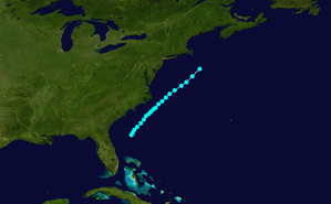 1865 Atlantic hurricane season - Image: 1865 Atlantic hurricane 3 track