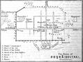 1878 Bosra map Baedeker.png