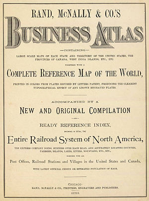 Rand McNally - Title page of the 1879 Business Atlas