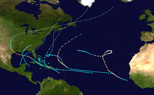 1900 Atlantic hurricane season - Image: 1900 Atlantic hurricane season summary map