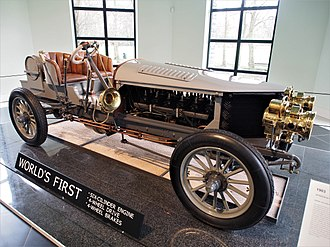 Spyker - The 1903 Spyker 60HP was the world's first 4WD car, directly powered by an internal combustion engine, as well as the world's first 4WD race-car.