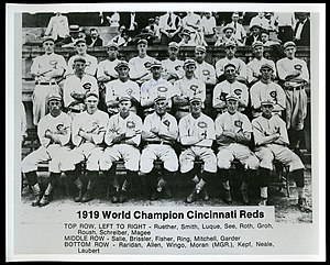 Jimmy Smith (baseball) - 1919 World Champion Cincinnati Reds