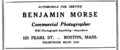 1921 Benjamin Morse photographer advert 123 Pearl Street in Boston.png