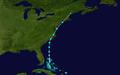 1961 Atlantic tropical storm 6 track.png