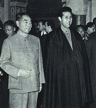 Africa–China relations - In the 1960s, the People's Republic of China established diplomatic relationships with a host of African countries in quick succession. Pictured is Premier Zhou Enlai meeting with President Ahmed Ben Bella on a visit to Algeria in 1964.