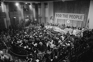 1964 Republican National Convention - A Platform Committee meeting held ahead of the convention in on July 9