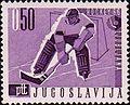 1966 World Ice Hockey Championships stamp of Yugoslavia.jpg