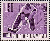 1966 World Ice Hockey Championships stamp of Yugoslavia.jpg