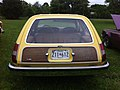 1977 AMC Pacer DL station wagon yellow-e Mason-Dixon Dragway 2014.jpg