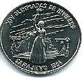1 песо. Куба. 1983.XIV зимние Олимпийские игры, Сараево 1984 - Женщина с факелом.jpg