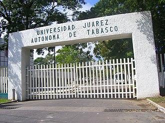 Universidad Juárez Autónoma de Tabasco - Main Entrance at its Central Campus on University Avenue, Villahermosa