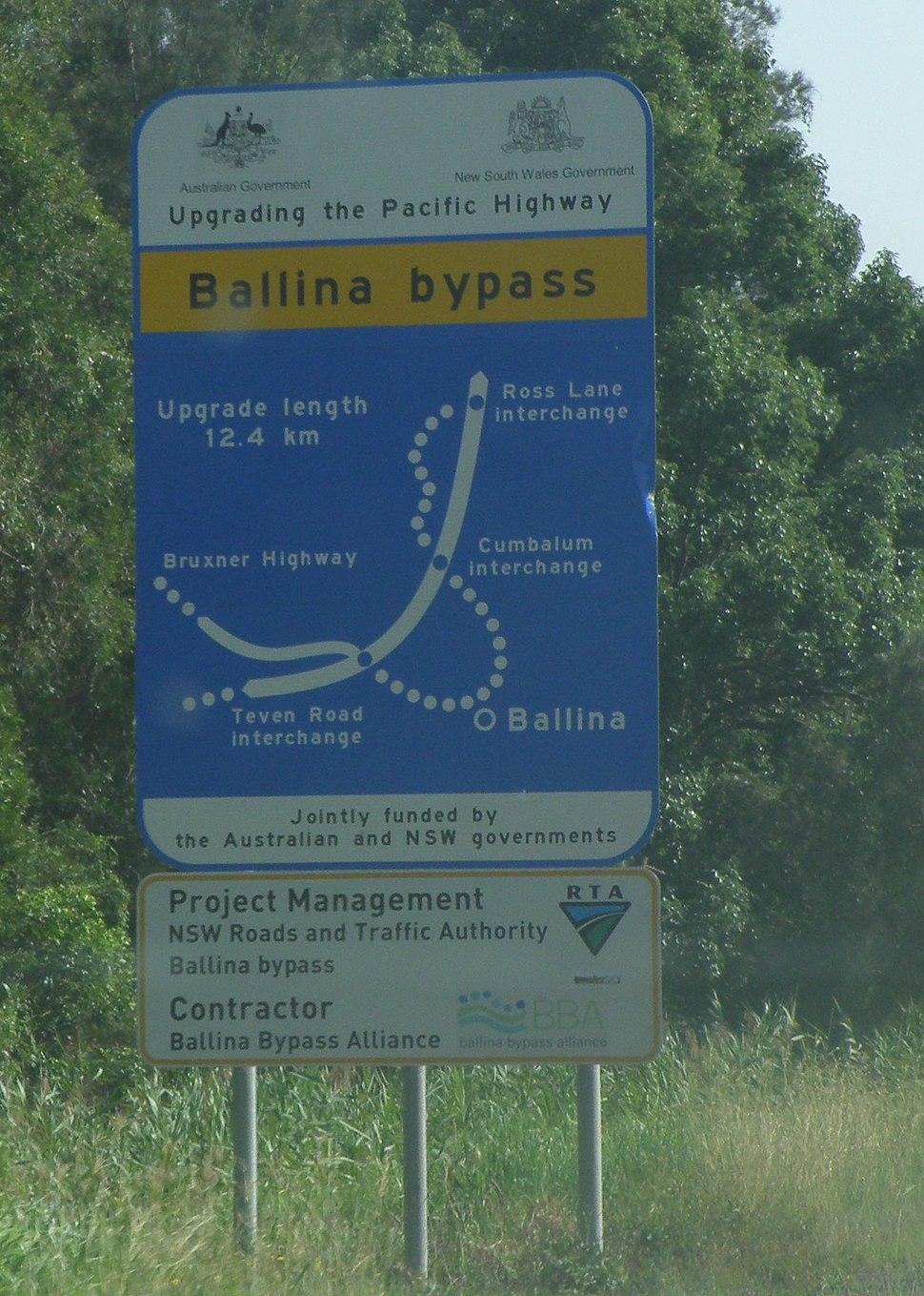 20091201 - Ballina Bypass - Sign