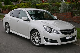 Subaru Legacy (fifth generation) - Image: 2010 Subaru Liberty (MY10) 2.5i Sports sedan (2015 07 24) 01