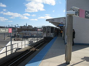Central Park station (CTA) - From the platform