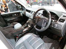 Range rover sport wikipedia for Range rover sport interior lighting