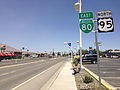 2014-06-12 13 07 37 View north along U.S. Route 95 (West Winnemucca Boulevard) near Fountain Way in Winnemucca, Nevada.JPG