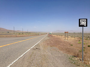 Nevada State Route 290 - View from the south end of SR 290 looking northbound