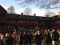 2014-12-27 15 36 53 Reenactors assembling in front of the Old Barracks after a reenactment of the Second Battle of Trenton in Trenton, New Jersey.JPG