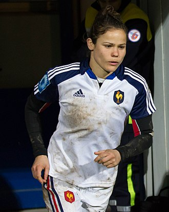 Camille Grassineau - Grassineau at the 2014 Six Nations