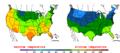 2015-10-05 Color Max-min Temperature Map NOAA.png