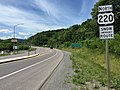2016-06-18 14 26 09 View north along U.S. Route 220 (McMullen Highway) at Chesapeake Avenue (Maryland State Route 135) in McCoole, Allegany County, Maryland.jpg