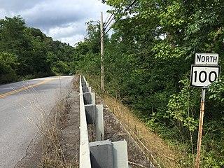 West Virginia Route 100 highway in West Virginia