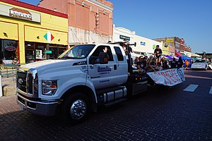 Ford F-650 - Image: 2017 Bois d'Arc Bash parade 26 (Commerce High School volleyball team float)