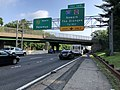 2018-07-17 08 13 27 View north along New Jersey State Route 444 (Garden State Parkway) just south of Exit 145 (Interstate 280, Essex County Route 508, Newark, The Oranges) on the border of Newark and East Orange in Essex County, New Jersey.jpg