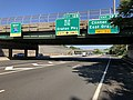 2018-07-18 09 24 30 View west along Interstate 280 (Essex Freeway) at Exit 12 (Garden State Parkway, Oraton Parkway, Clinton Street, East Orange) in East Orange, Essex County, New Jersey.jpg